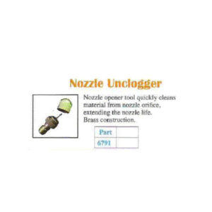 BRASS NOZZLE UNCLOGGER TOOL